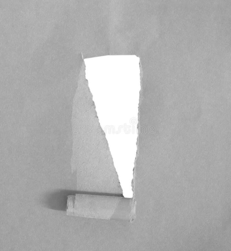 Papel rasgado del rasgón fotografía de archivo