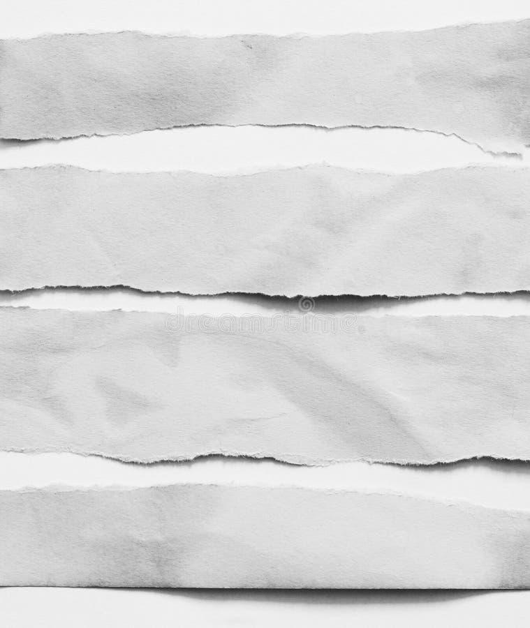 Papel rasgado do rasgo imagens de stock