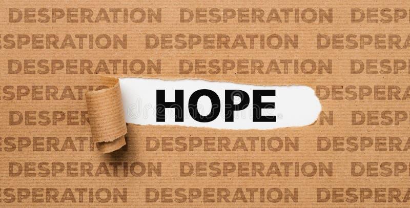 Papel rasgado - esperanza o desesperación fotos de archivo