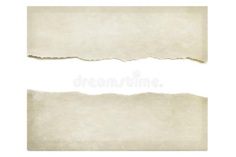 Papel rasgado isolado no branco fotografia de stock
