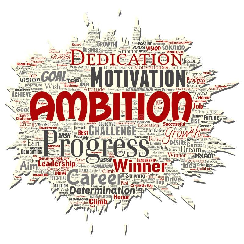 Papel rasgado velho da ambição ou da motivação da liderança do vetor ilustração stock