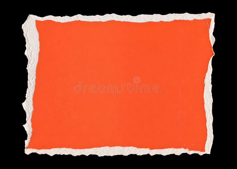 Papel rasgado vermelho imagens de stock royalty free