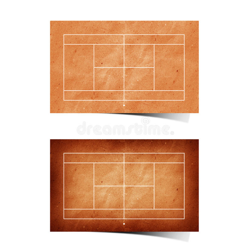 Papel recicl campo do tênis de Grunge ilustração royalty free