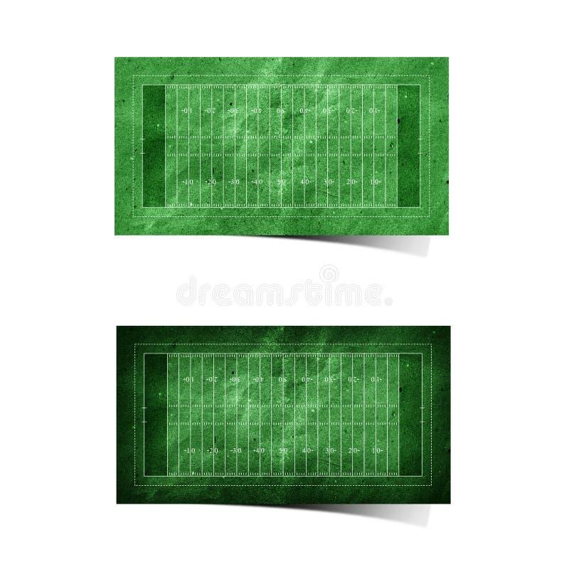 Papel recicl do campo de futebol americano de Grunge ilustração do vetor