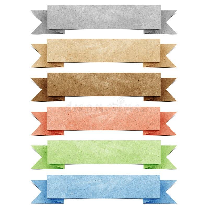 Papel recicl Tag do origami do encabeçamento ilustração do vetor