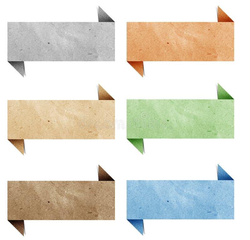 Papel recicl Tag do origami do encabeçamento ilustração royalty free