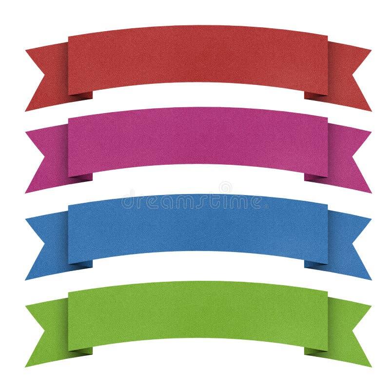 Papel recicl Tag do origami do encabeçamento. foto de stock