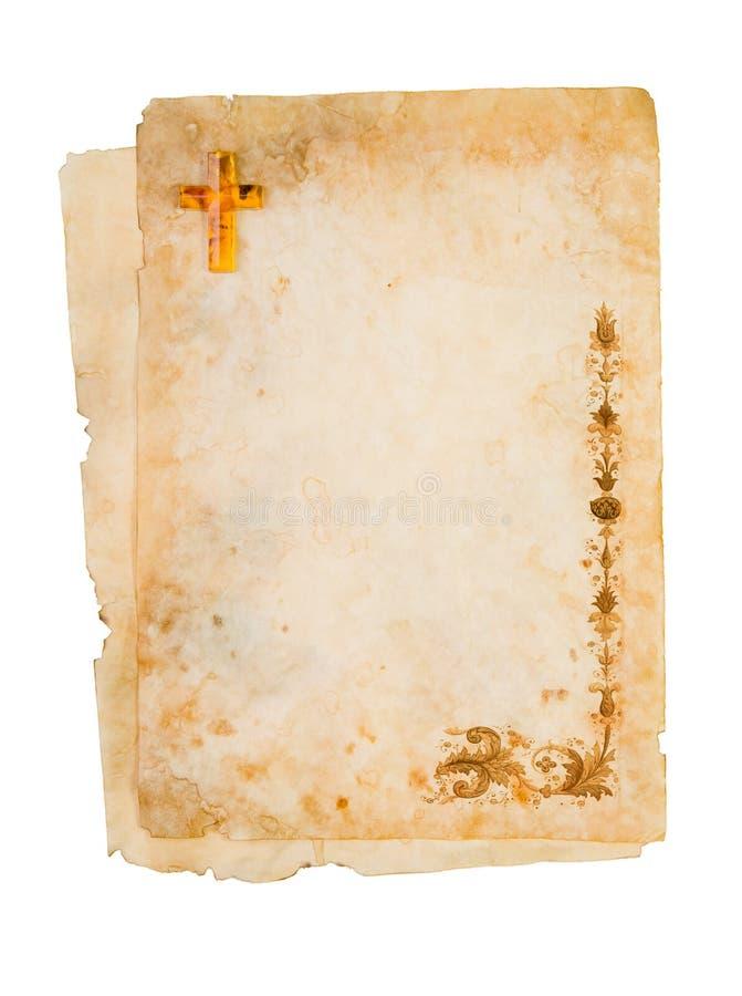 Papel religioso en blanco imágenes de archivo libres de regalías