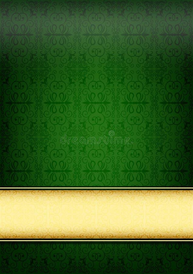 Papel retro verde stock de ilustración