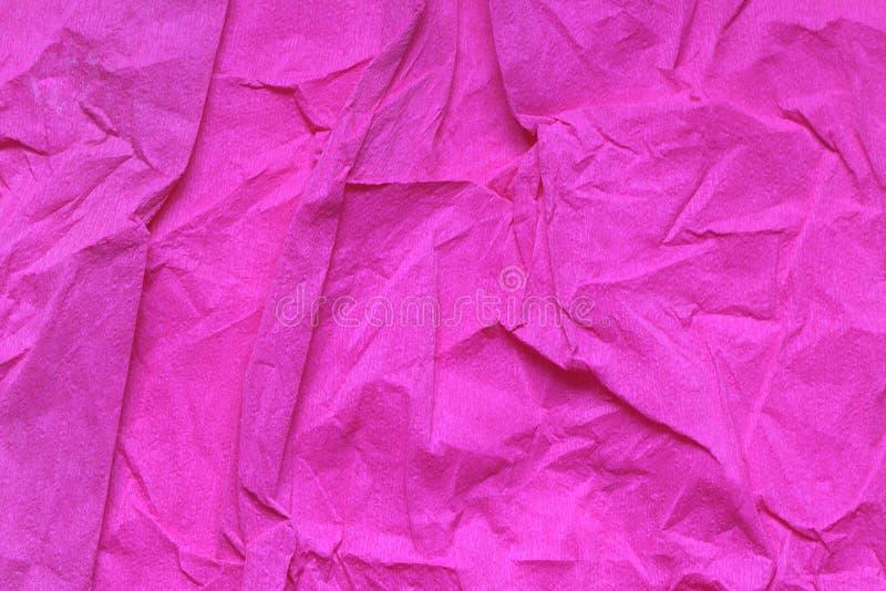 Papel rosado machacado foto de archivo libre de regalías