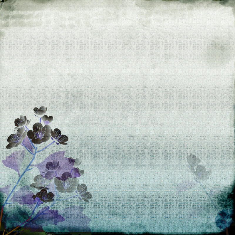 Papel roxo azul ilustração stock