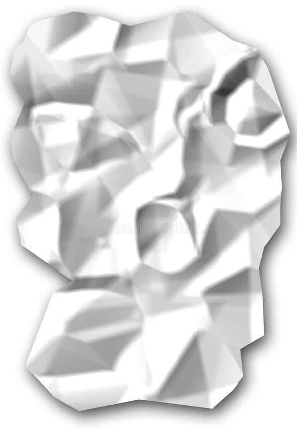 Papel Rumpled imagen de archivo libre de regalías