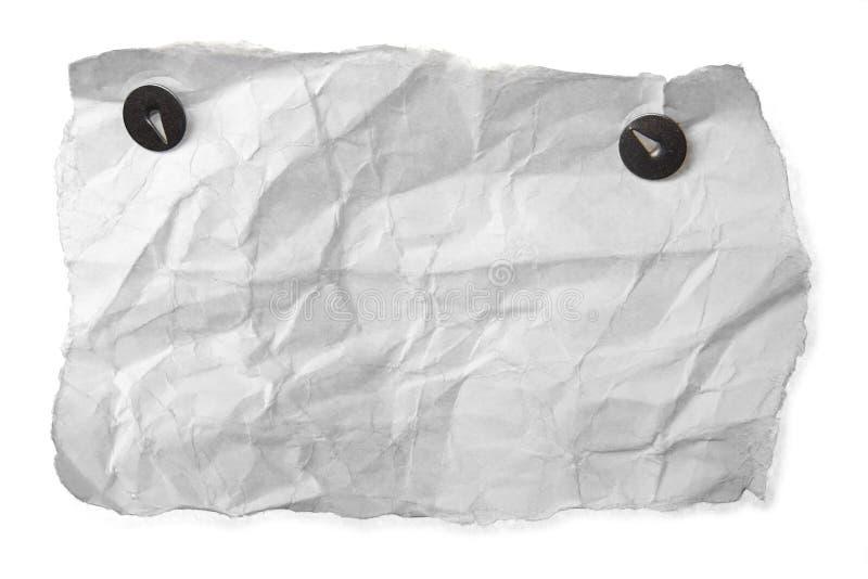 Papel rumpled blanco imágenes de archivo libres de regalías