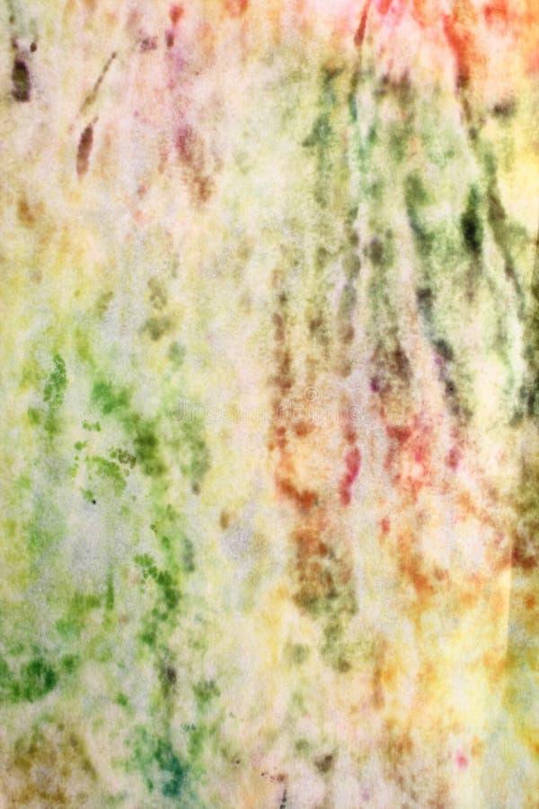 Papel seda manchado colorido fotos de archivo