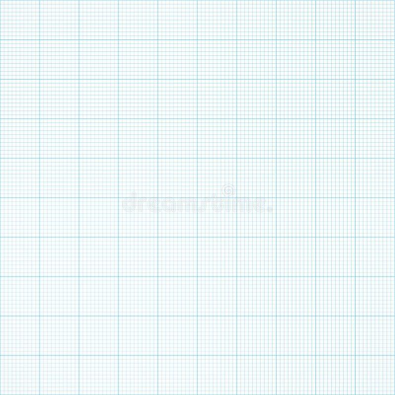Papel sem emenda da grade do milímetro do gráfico Fundo da engenharia do vetor ilustração do vetor