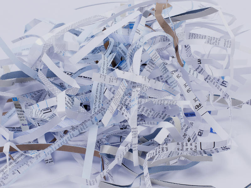 Papel Shredded imagem de stock royalty free