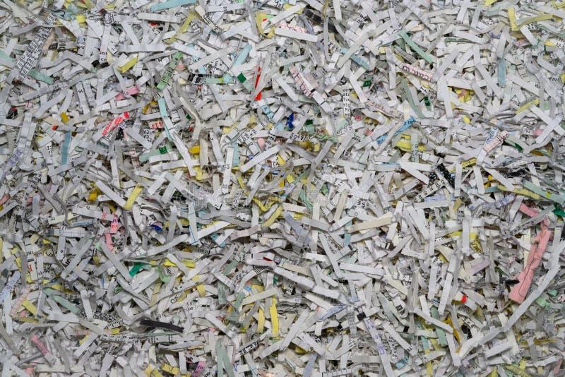 Papel shredded colorido imagem de stock