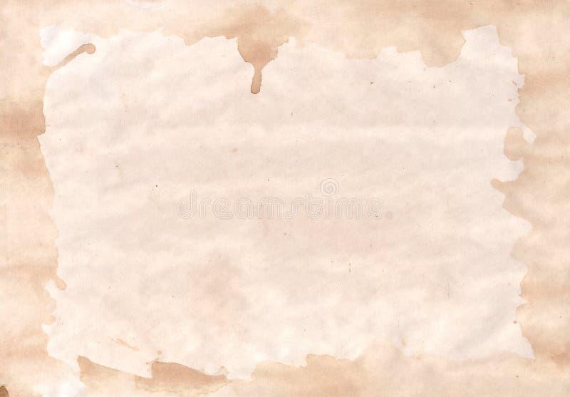 Papel sucio con el fondo de la frontera imagen de archivo libre de regalías