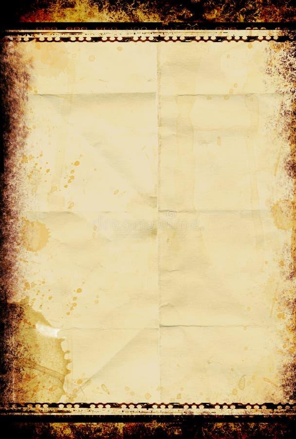 Papel sucio de la película imagen de archivo libre de regalías