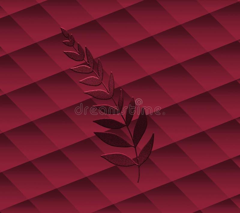 Papel swirly arrugado decorativo efectos 3D Papel elegante del tono del melocot?n Bueno para las tarjetas y las invitaciones de f ilustración del vector