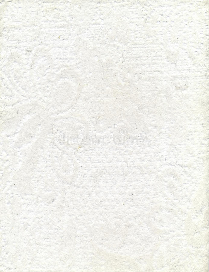Papel Textured branco feito a mão fotos de stock royalty free