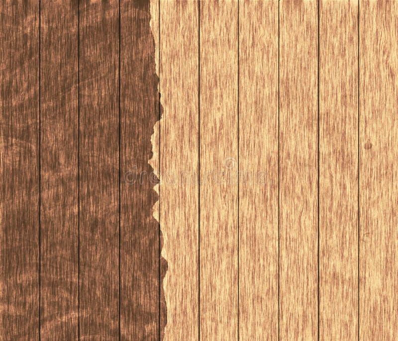 Papel textured de madeira Parte superior da madeira compensada Folha áspera suja para ofícios, texturas imagens de stock