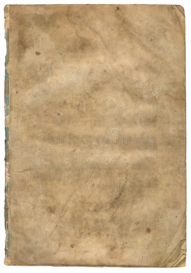 Papel textured velho com borda decrépita (varredura). fotos de stock royalty free