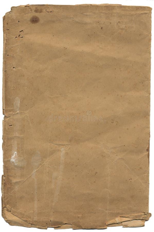 Papel textured velho com borda esfarrapada fotografia de stock royalty free