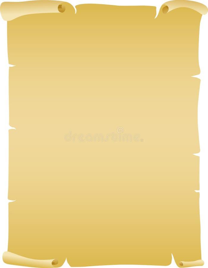 Papel velho ilustração royalty free