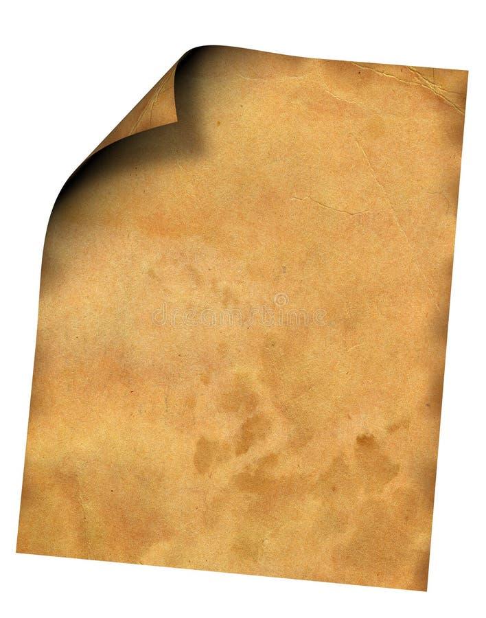 Papel velho. ilustração stock