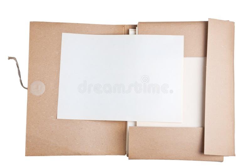 Papel velho com arquivo fotos de stock