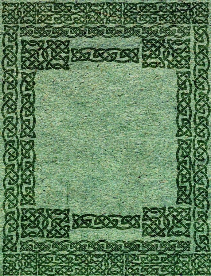 Papel velho com frame celta ilustração royalty free
