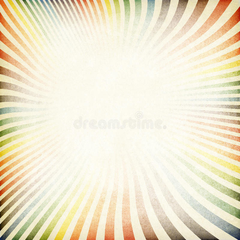 Papel velho da imagem retro do Sunburst textured. ilustração do vetor