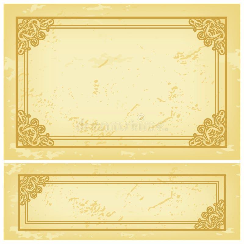 Papel Velho Do Frame Fotografia de Stock Royalty Free