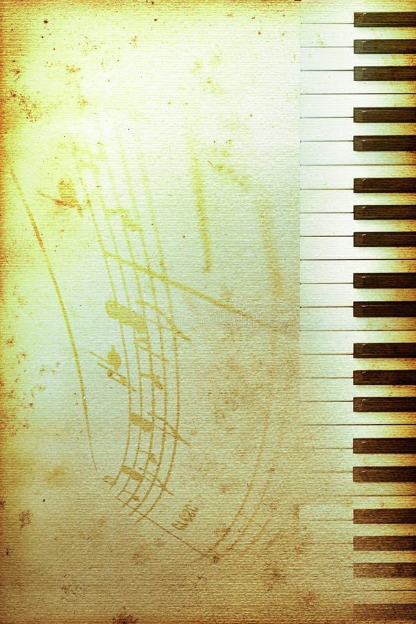 Papel velho do piano ilustração royalty free