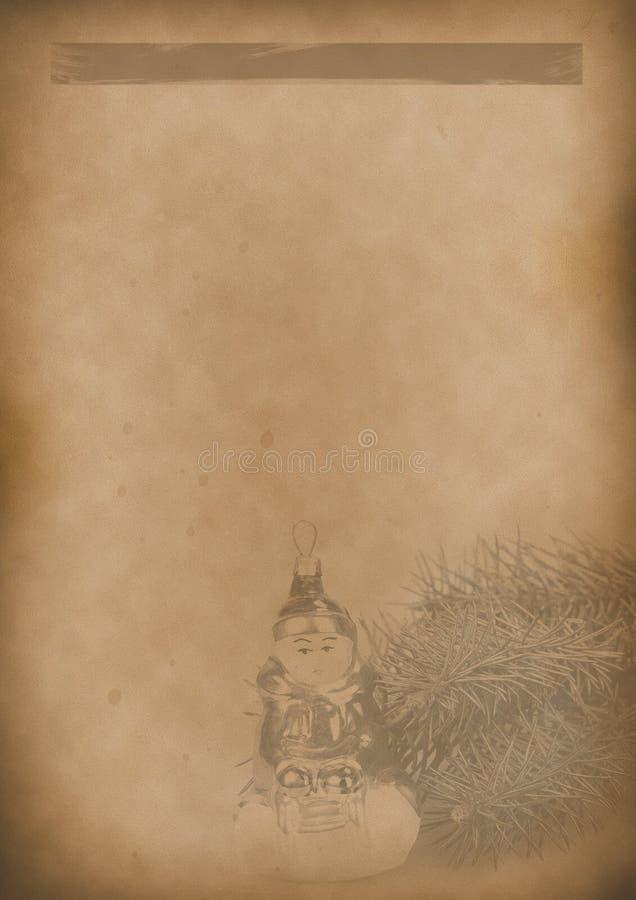 Papel velho do vintage do fundo do menu do chá para algum projeto foto de stock