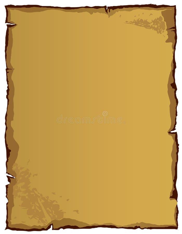 Papel velho (ilustração) ilustração stock