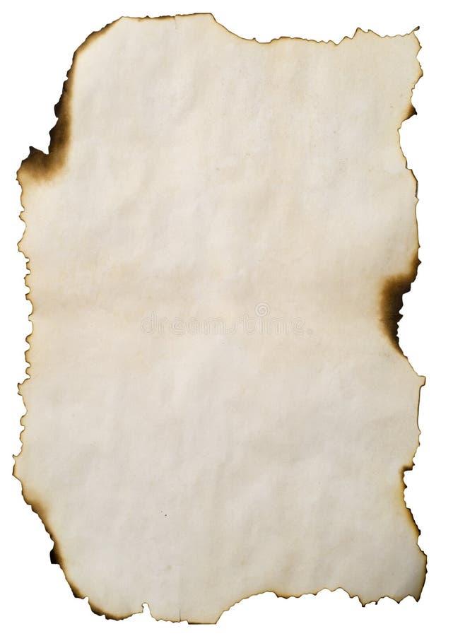 Papel velho queimado imagem de stock royalty free