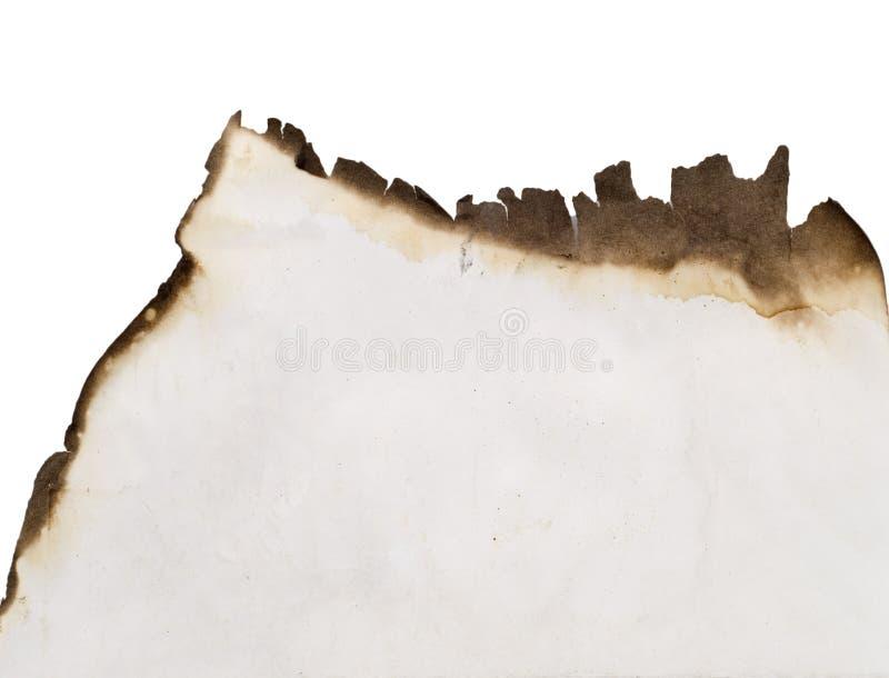 Papel velho queimado fotos de stock