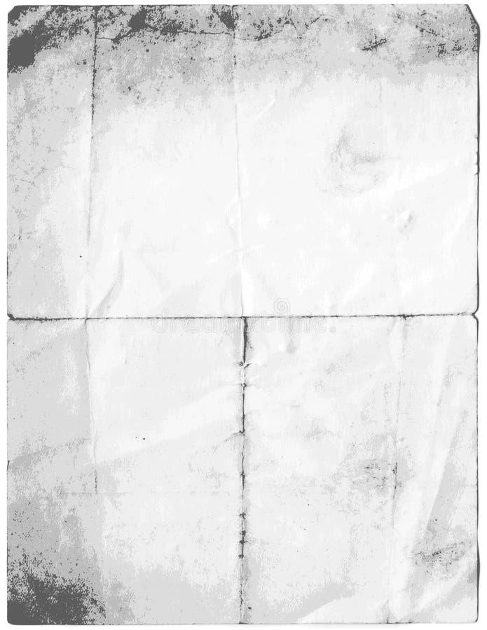 Papel velho sujo de Vectorised ilustração do vetor
