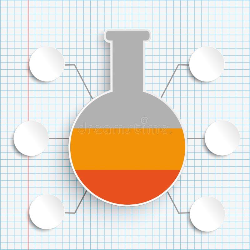 Papel verificado Infographic das opções do tubo 6 do laboratório ilustração stock