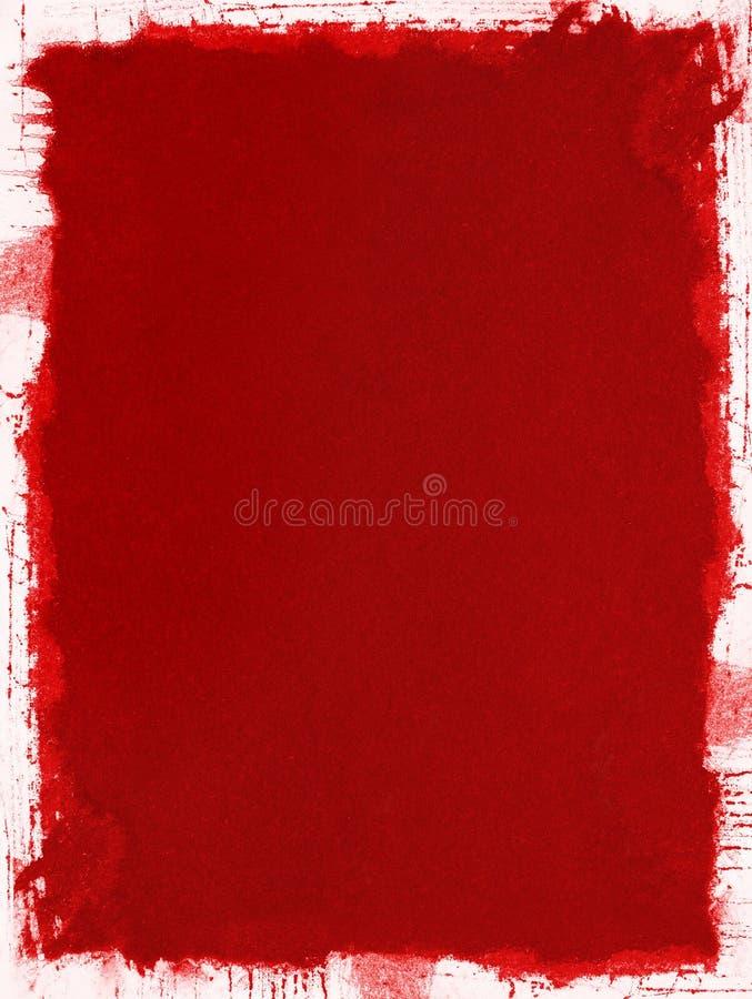 Papel vermelho de Grunge ilustração do vetor