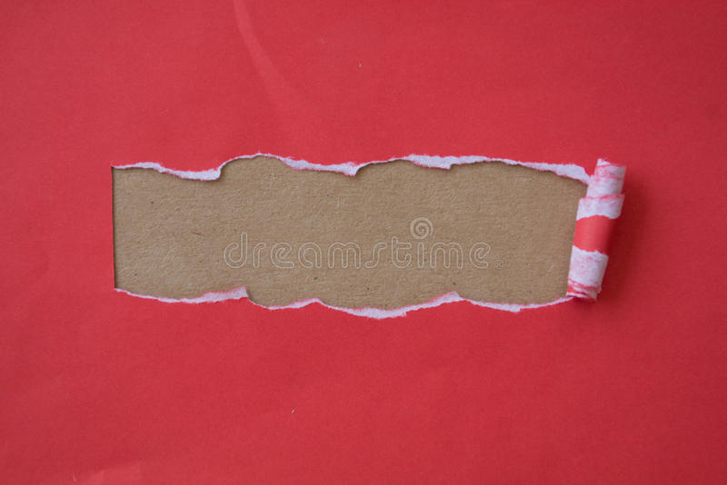 Papel vermelho rasgado para o ofício foto de stock