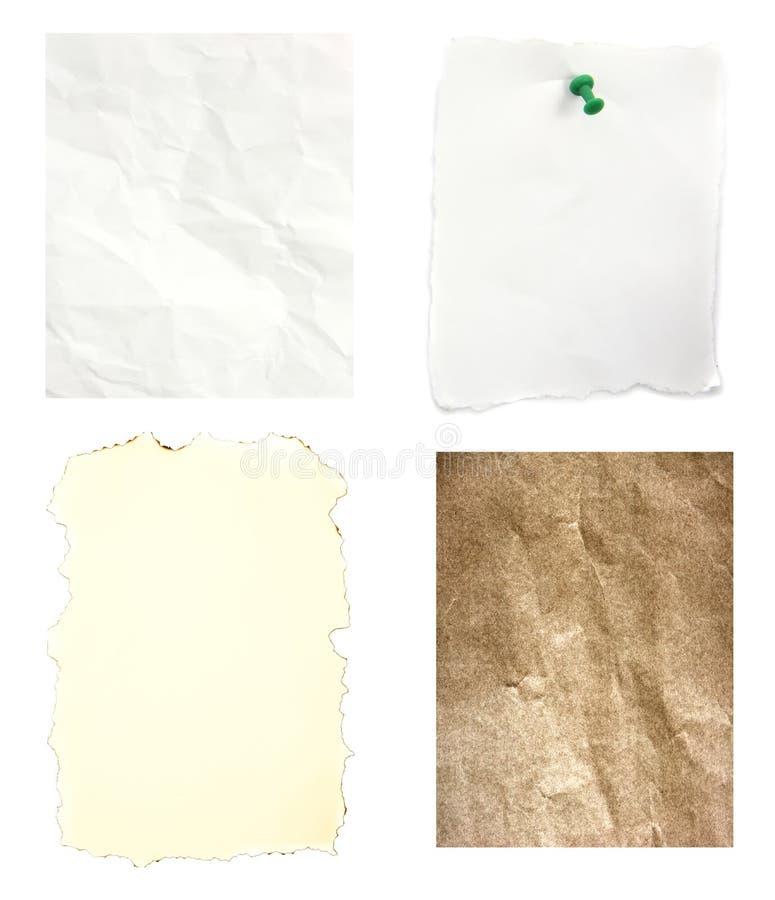 Papel viejo arrugado mezcla de la quemadura fotografía de archivo libre de regalías