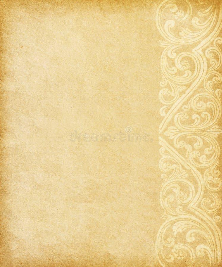 Papel viejo con el espacio para el texto imágenes de archivo libres de regalías