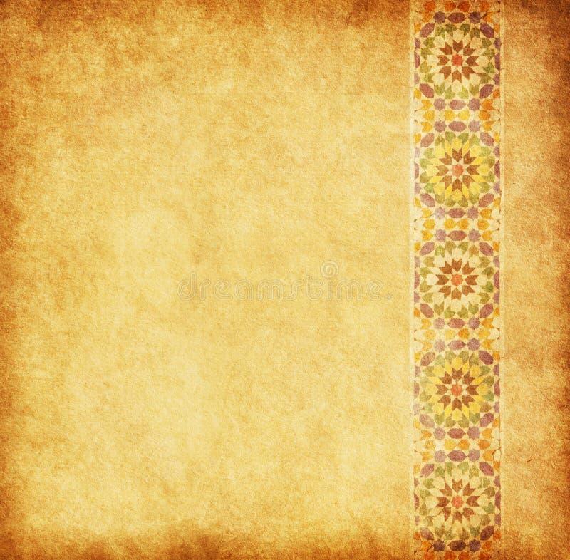 Papel viejo con el ornamento oriental imagen de archivo