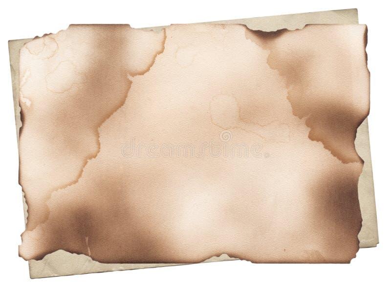 Papel viejo con los bordes quemados stock de ilustración