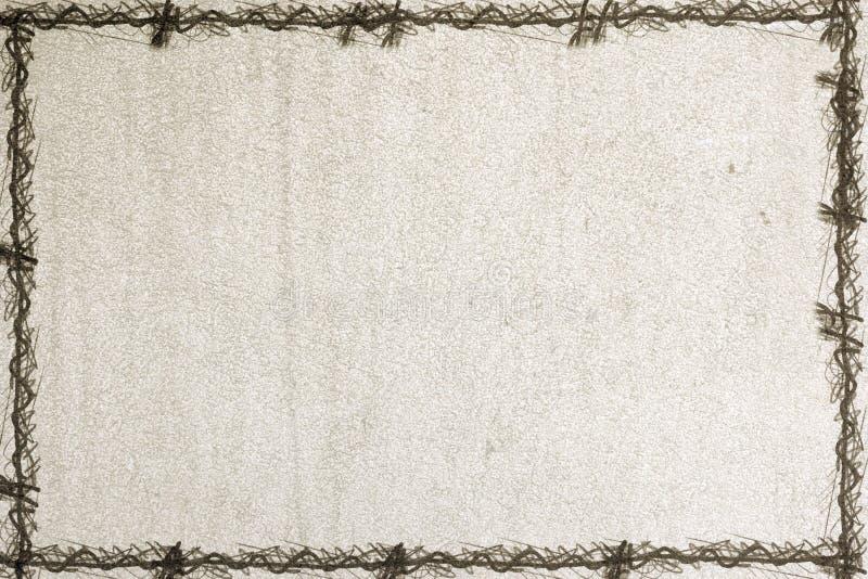 Papel viejo con un marco del grunge ilustración del vector