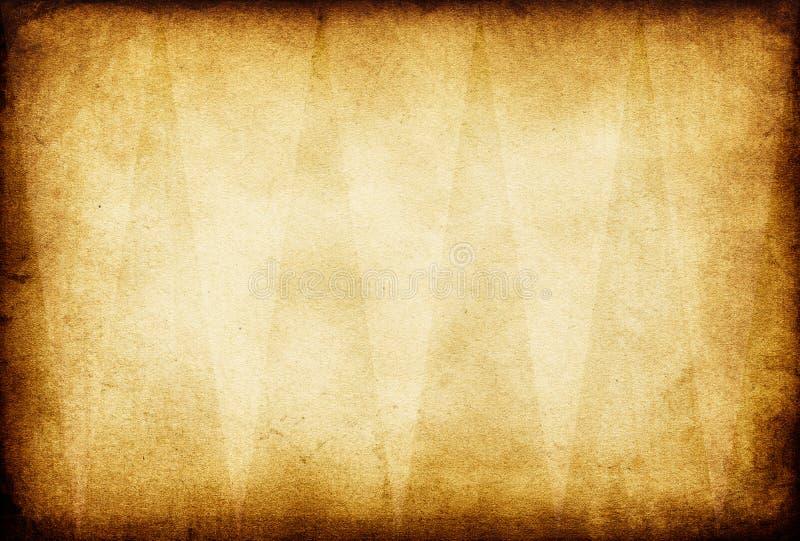Papel viejo de la vendimia de Grunge. ilustración del vector