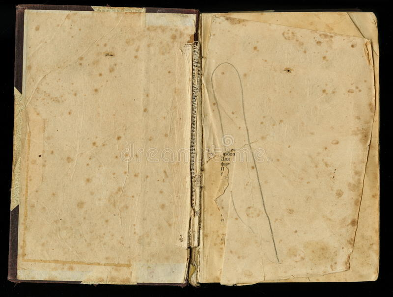 Papel viejo del Grunge para el mapa o el vintage del tesoro Papel manchado oscuro revelado del libro imágenes de archivo libres de regalías